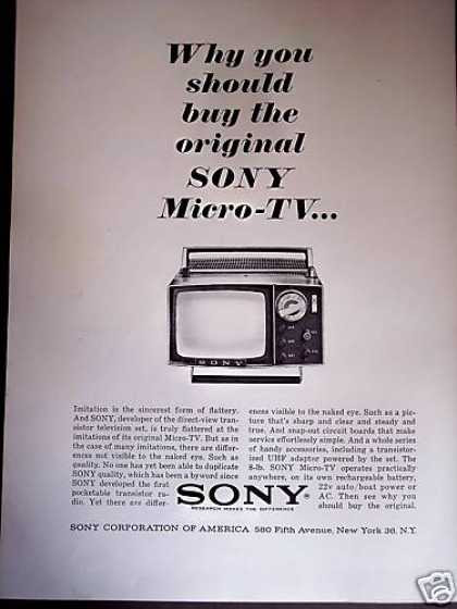 Sony Micro Tv Mini Portable Television (1964)