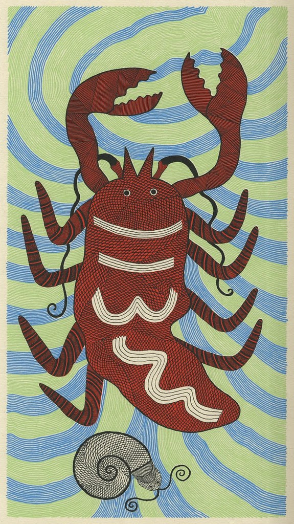 Waterlife lobster (Tara books)