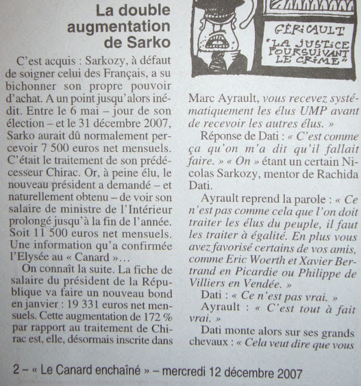Salaire de Sarkozy