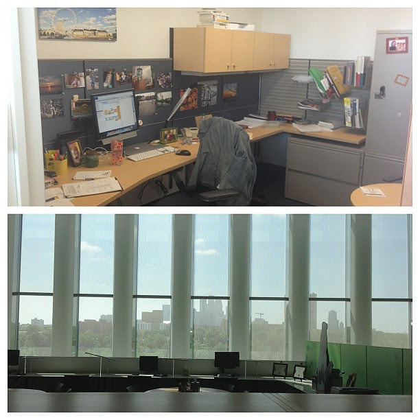 For @cleverkate, #whereiwork - inside my office and the view out my office door!