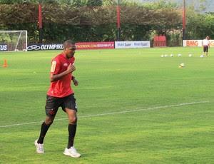 Renato no treino do Flamengo no Ninho (Foto: Rafael Cavalieri / Globoesporte.com)