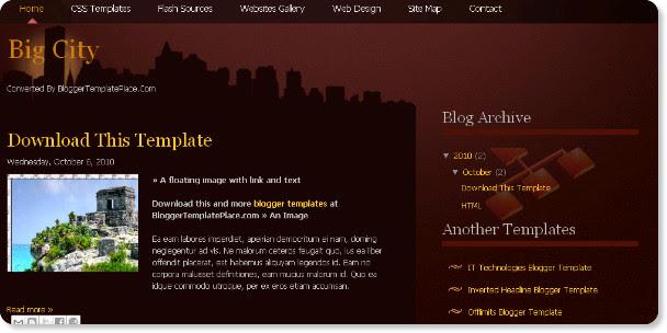best dark blogger templates