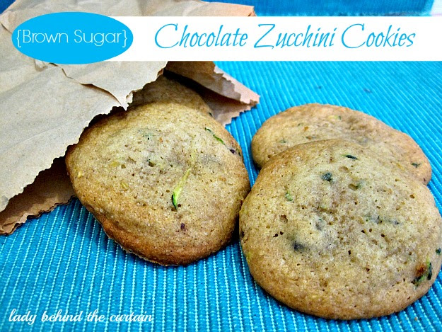Lady Behind The Curtain - Brown Sugar Chocolate Zucchini Cookies