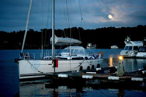 Moonlight boating
