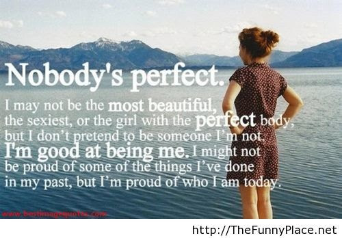Nobody Is Perfect Sayings With Image Thefunnyplace