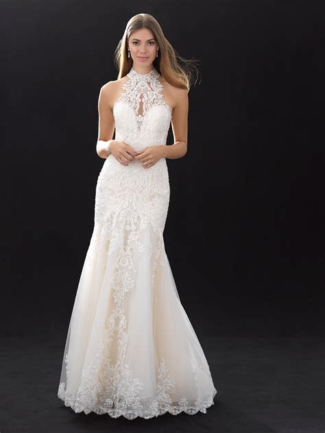 Modern Fit And Flare Wedding Dress   Kleinfeld Bridal