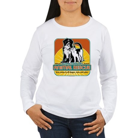 Animal Rescue Dog and Cat Women's Long Sleeve T-Sh
