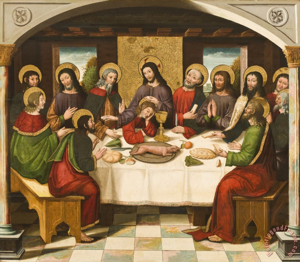 Master Of Portillo The Last Supper Painting The Last Supper Print For
