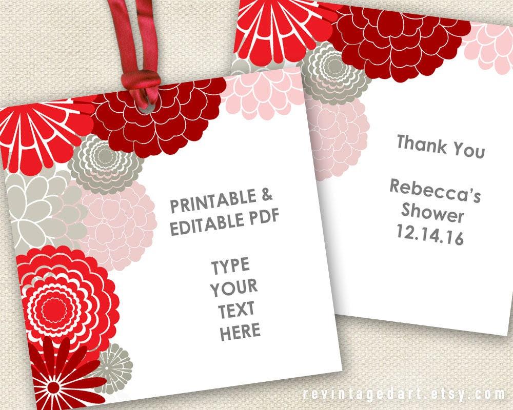 Editable Gift Tag Template