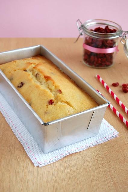 Cranberry lemon bread / Bolo de limão siciliano com cranberries