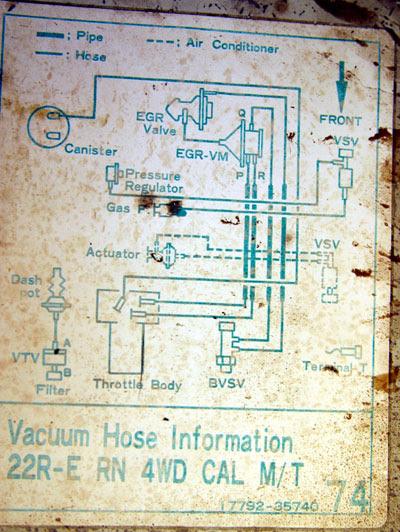 vacuum diagram for '87 pickup - YotaTech Forums