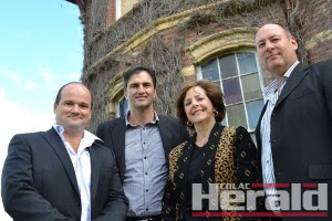 Balnagowan House developers Jason Chivers and Andrew Wyatt, Coast and Country Villages director Susan Malone and Balnagowan owner Leigh Rich.