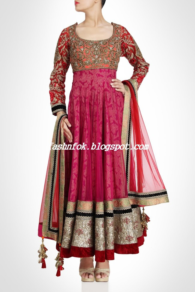 Amazing-Bridal-Wear-Indian-Fashionable-Dress-Designs-for-Cute-Girls-10