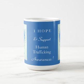 Human Trafficking Awareness Ribbon Angel Mug