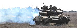 Tank russi sul confine con l'Ucraina