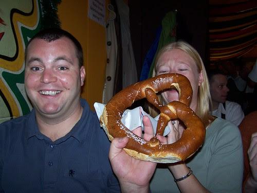 steven, sarah and the bigass pretzel