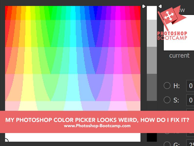Photoshop Tip My Photoshop Color Picker Looks Strange How Do I Fix