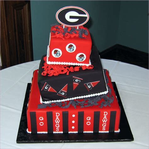 UGA grooms cakevendors For Goodness Cakes   Project Wedding