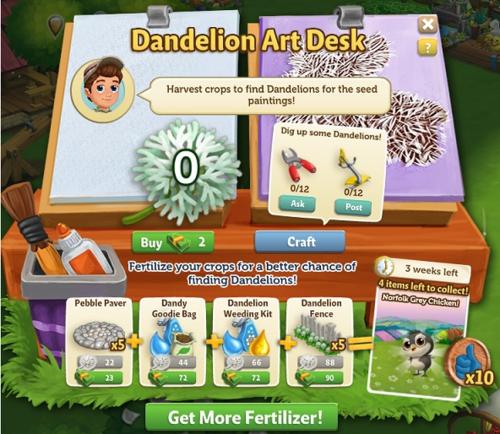 All's Fine and Dandelion - FarmVille 2