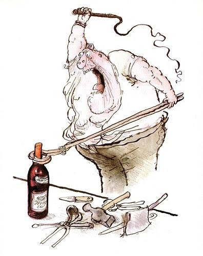 Winespeak - Lacks Subtlety - Ronald Searle