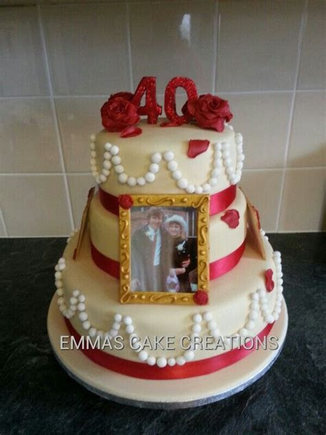 Pin 40th Wedding Anniversary Cake Topper From