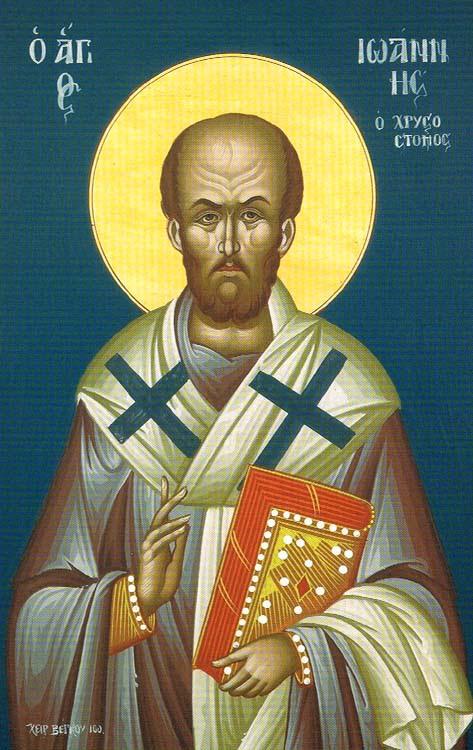 ST. JOHN CHRYSOSTOM, Archbishop of Constantinople