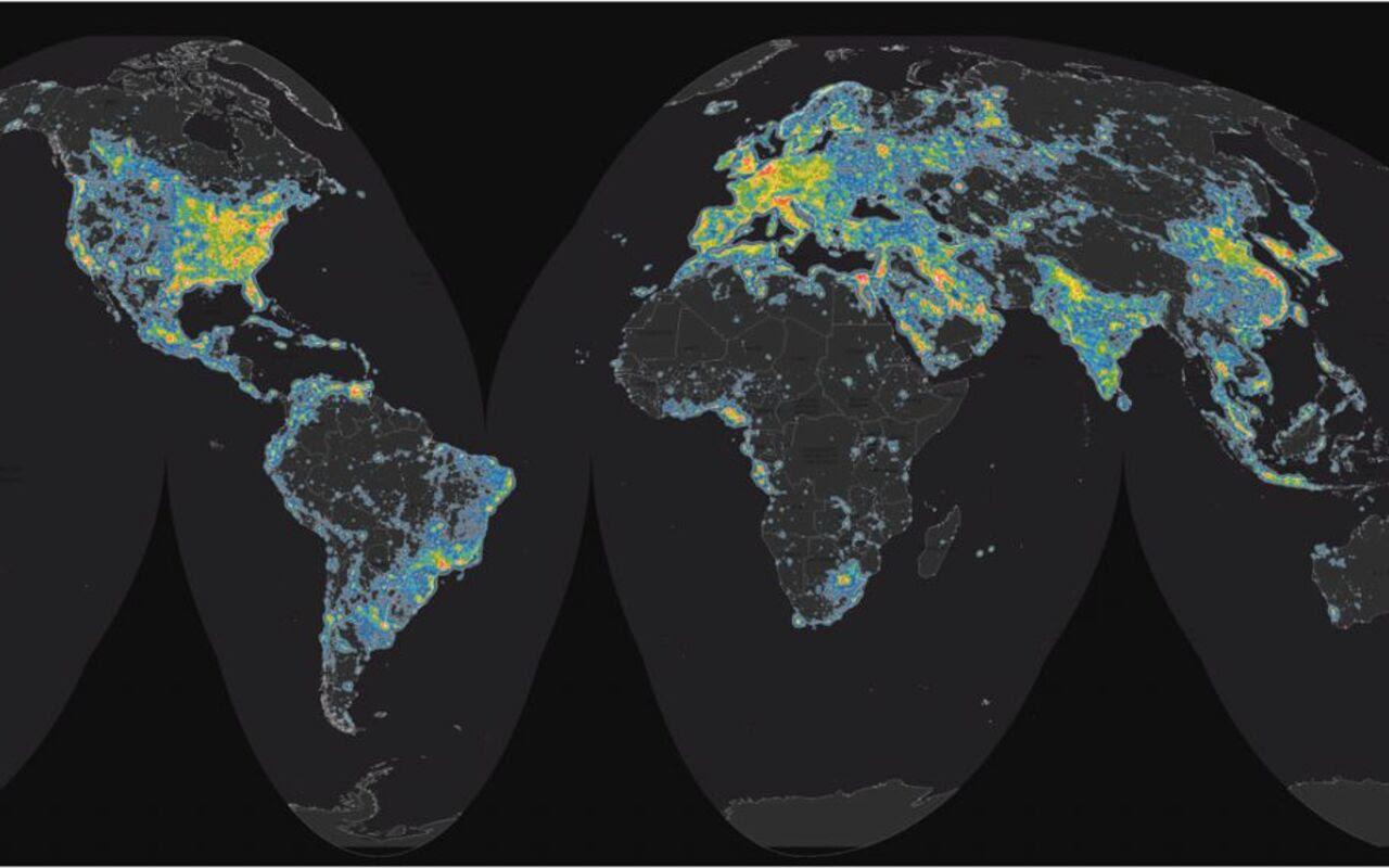 Interactif Pollution Lumineuse 80 De La Population