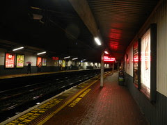 Galway day-trip - Waiting for the DART at Tara Street..