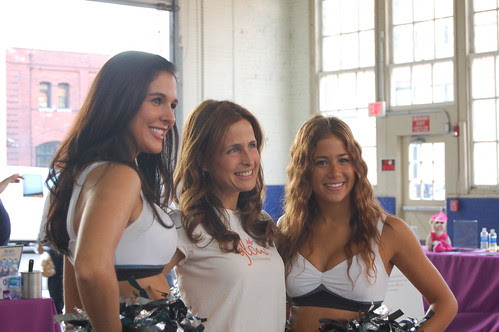 Eagles cheerleaders with Jill from Glow Gluten Free