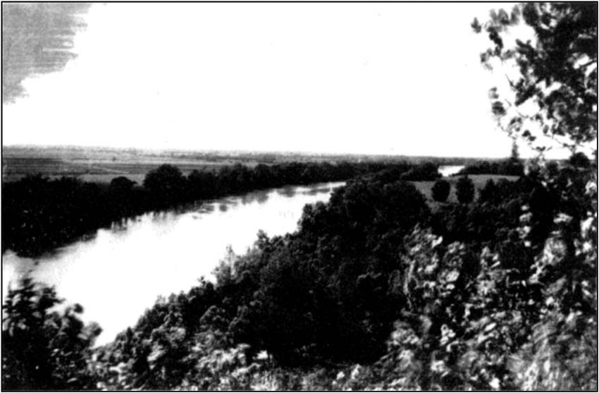The Wabash River at Merom Bluff