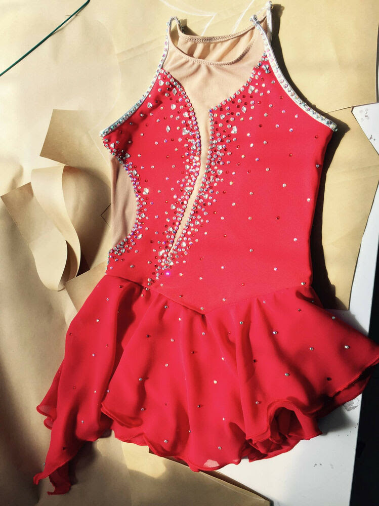 custom made to figure skating dress girls ice dresses