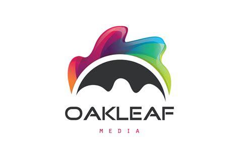 sold oak leaf media logo design logo cowboy