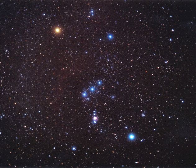 The constellation Orion. Credit: Matthew Spinelli NASA/APOD