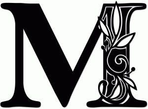 letter m silhouette 1