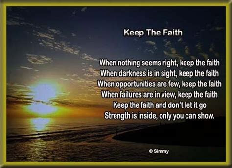 Keep The Faith. Free Encouragement eCards, Greeting Cards