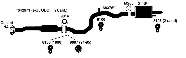 OLDSMOBILE CUTLASS CIERA Exhaust Diagram from Best Value ...