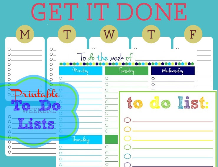 Free Printable To-Do Lists – Cute & Colorful Templates - What ...