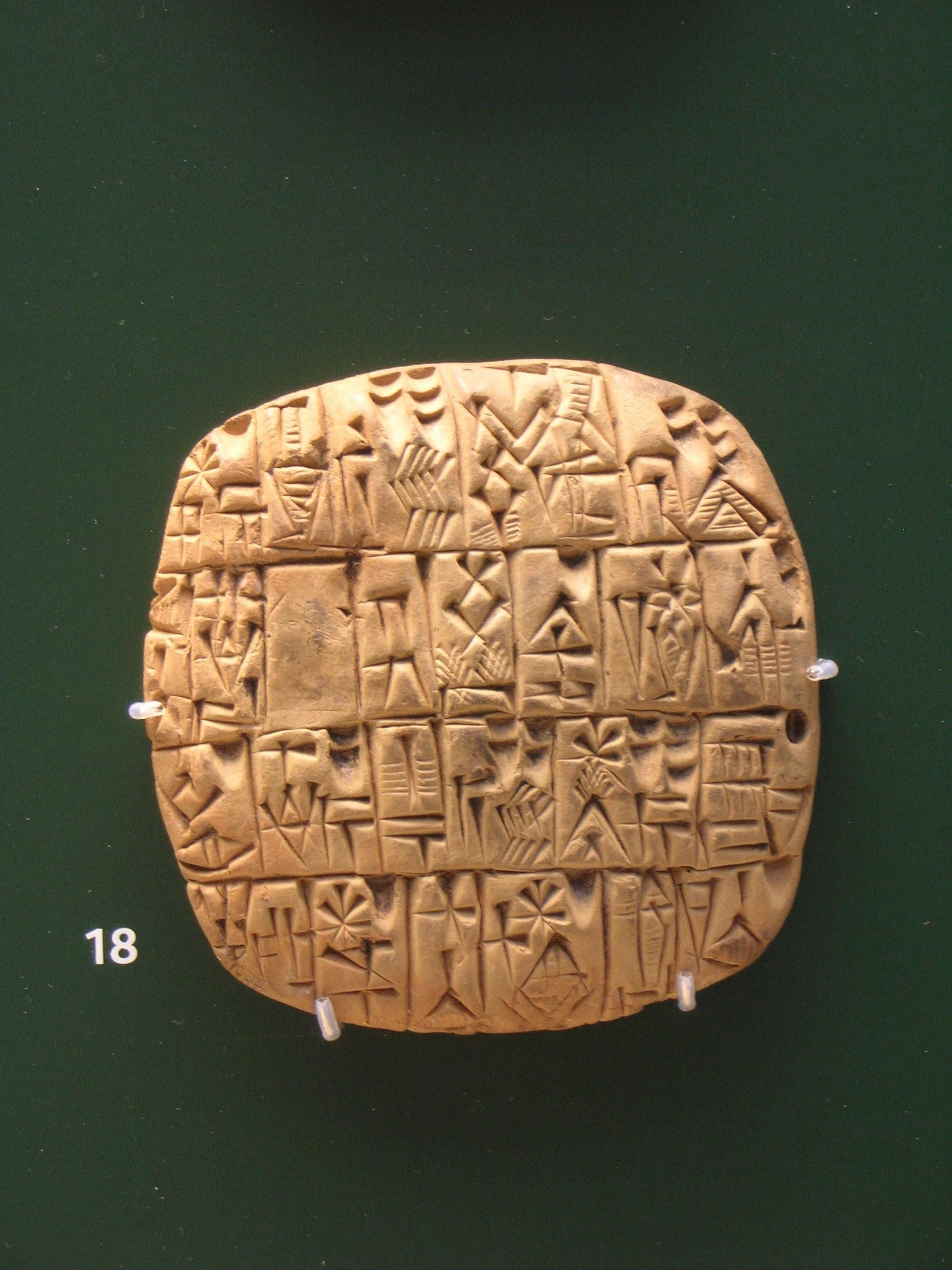 Contabilidad en Sumeria, Mesopotamia