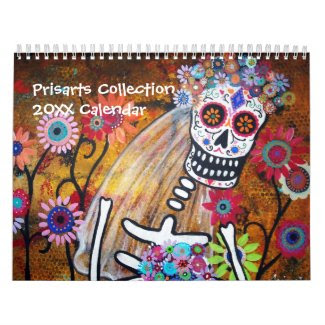 PRISARTS COLLECTION CALENDAR 2012 DAY OF THE DEAD calendar