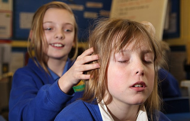 The ten-minute massage sessions were introduced at Sheffield's Hartley Brook Primary School to help calm down pupils after lunch breaks
