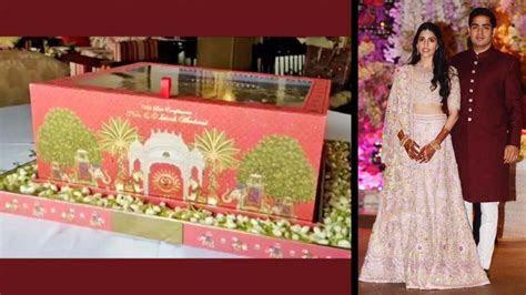 Akash Ambani Wedding Card, pre wedding celebrations