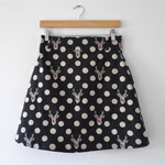 Stag Print Delphine Skirt