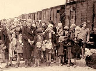 New arrivals at Auschwitz