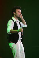 Tarkan's wardrobe changes were subtle ones for the London concert