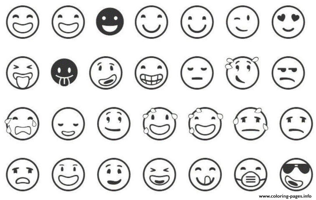 Smiler Emoji Coloring Page Free Printable Coloring Pages