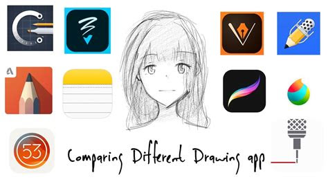 comparing  drawing app ipad pro  youtube
