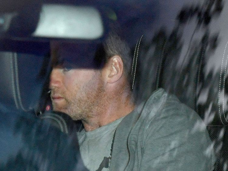 Wayne Rooney returning home after being arrested and charged with drink driving
