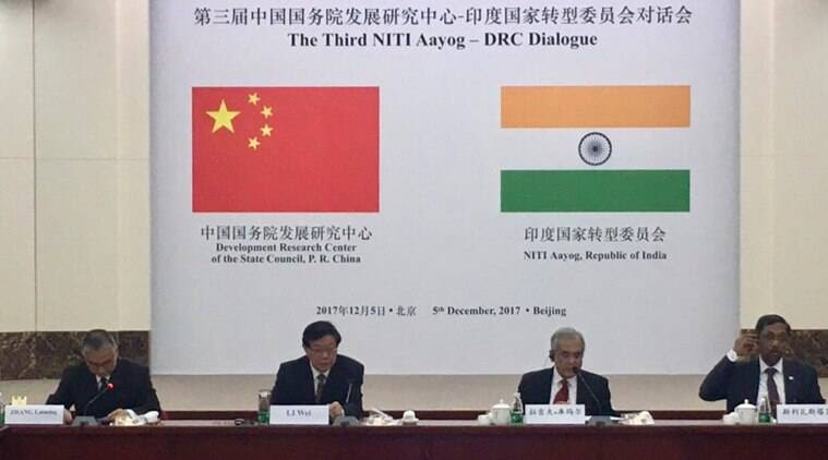 India-China dialogue, NITI Aayog-DRC China dialogue, India economy, China economy, World economy, Rajiv Kumar, India economic growth, India news, indian express news