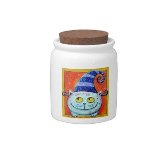 Magic Cat With Fairy Hat Candy Jars