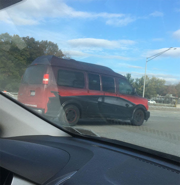 This Van Is Painted To Look Like A Sports Car